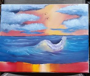 rosses sunset seascape