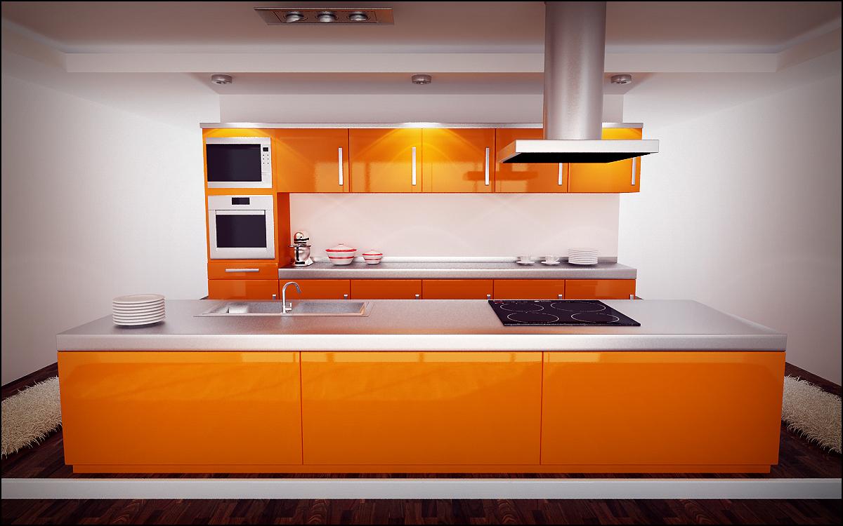 Orange kitchen by sloeb on deviantart - Arte sole cucine ...