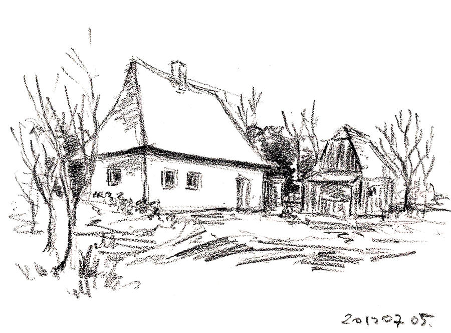 Cottage Sketch 02 By Sloeb On Deviantart