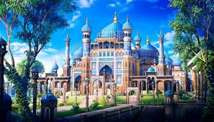 Uzbek oriental palace