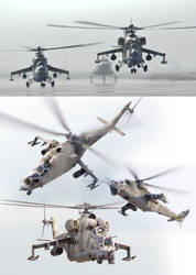 Mi-24 helicopter by ideaday