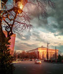 Sunset in Tashkent-3 by ideaday