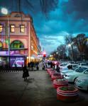 Tashkent at dusk by ideaday