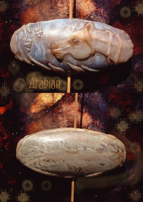 Arabian horse bead by Sleetwealth