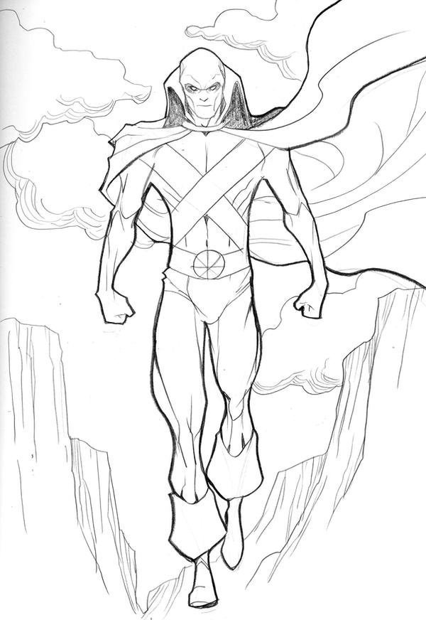 martian manhunter coloring pages