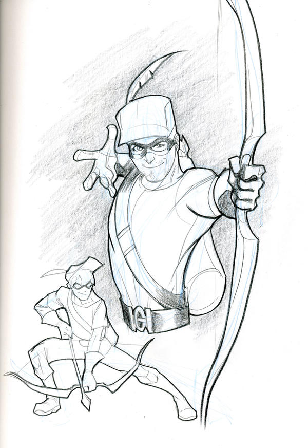 green arrow and speedy by guinnessyde on deviantart - Green Arrow Coloring Pages