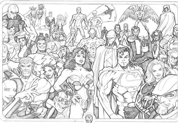 coloring pages and justice league - photo#28