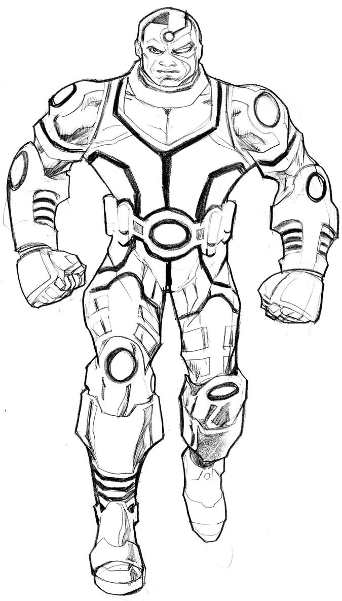 Holiday Coloring Pages Karate Cyborg