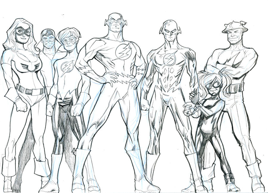 The Flash Family By Guinnessyde