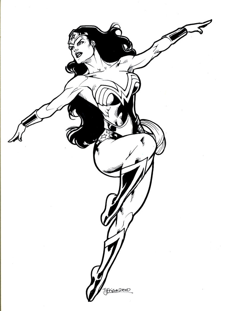 Wonder Woman In Flight By Flying Guinnessydedeviantart