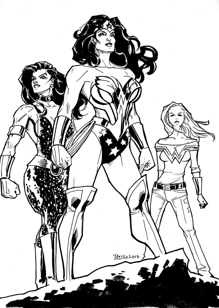 DC3: Wonder Women by guinnessyde