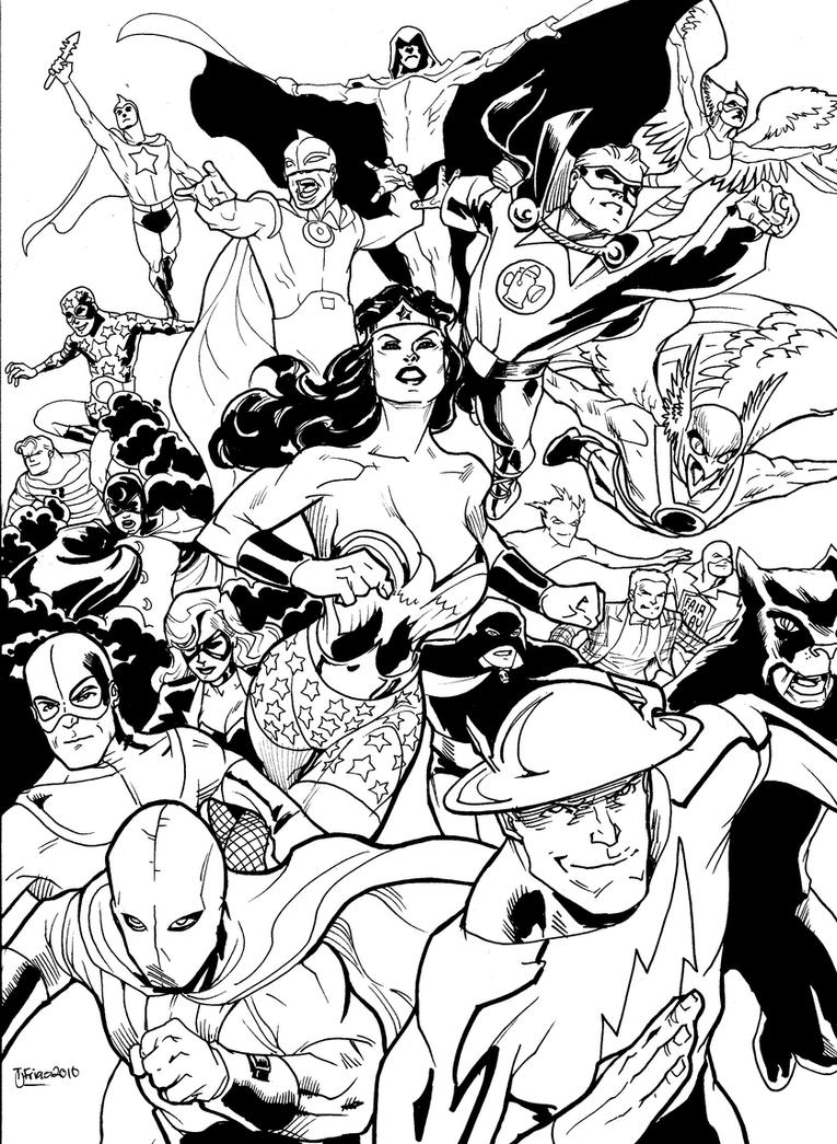 Justice Society Of America By Guinnessyde
