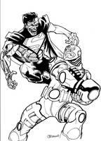 Cyborg vs Cyborg Superman by guinnessyde