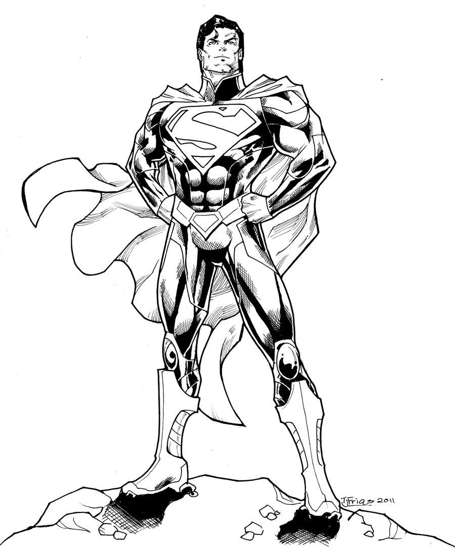 Dibujos de Superman para colorear. - Manualidades a Raudales