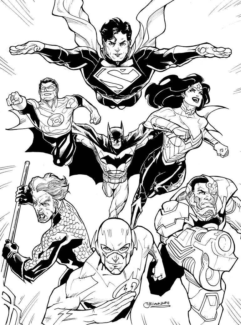 jla justice league coloring pages | New 52 Justice League Coloring Pages Coloring Pages