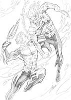 Classic Vs DCnU: Aquaman by guinnessyde