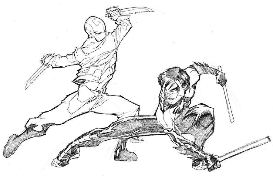 nightwing new 52 coloring pages - photo#5