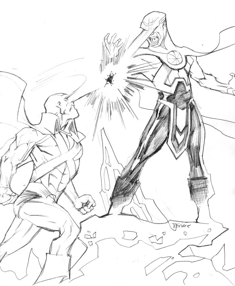 classic vs dcnu martian martian manhunter coloring pages