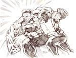 AvX: Red Hulk vs. Colossus/Juggernaut