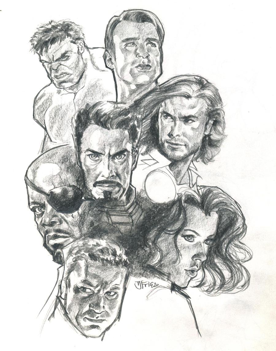 Portrait Studies The Avengers By Guinnessyde On DeviantArt