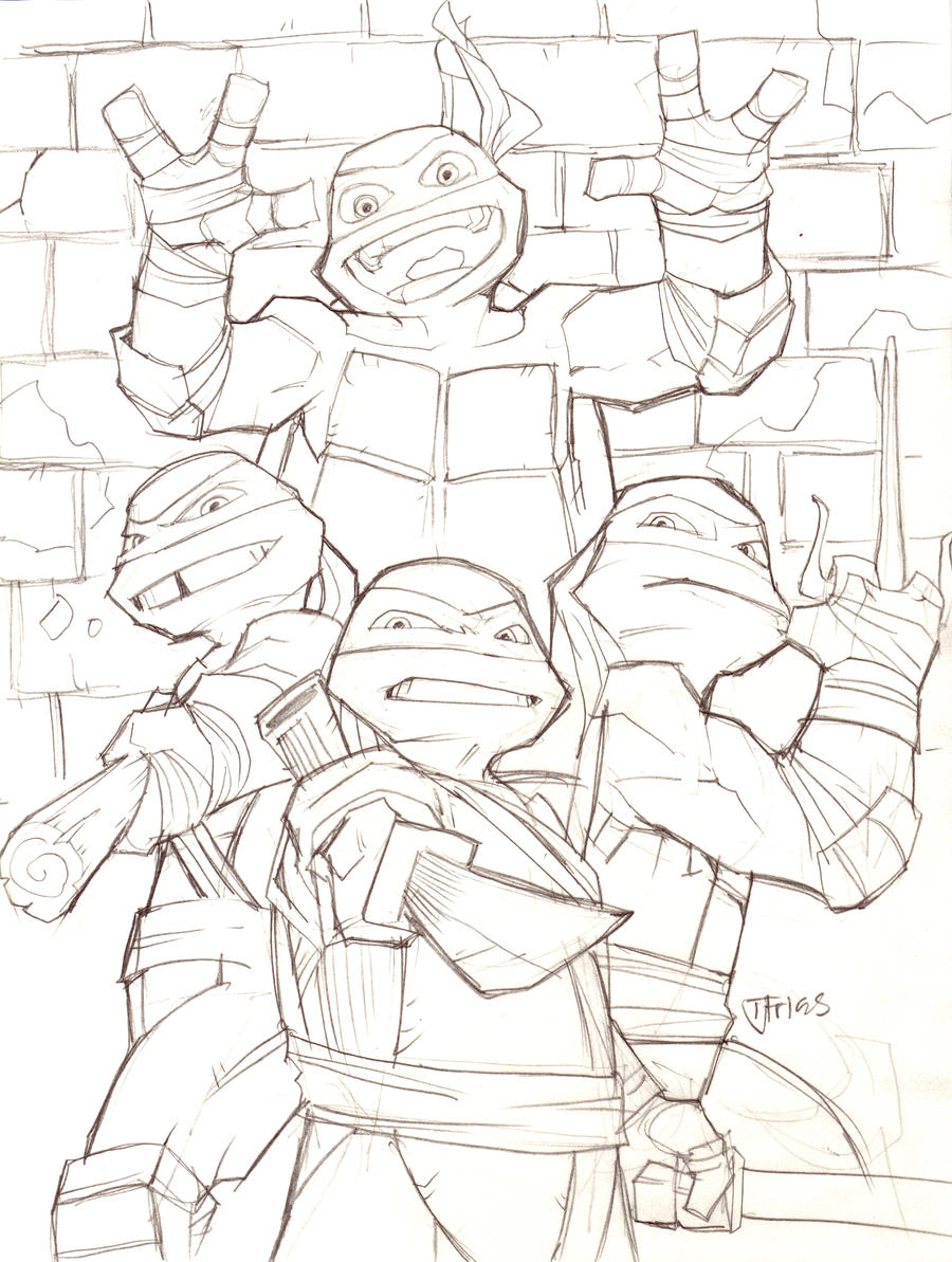 easy tmnt coloring pages - photo#34