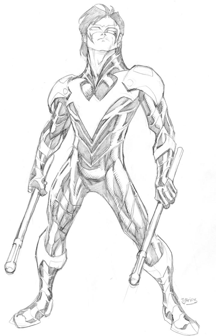 nightwing new 52 coloring pages - photo#24