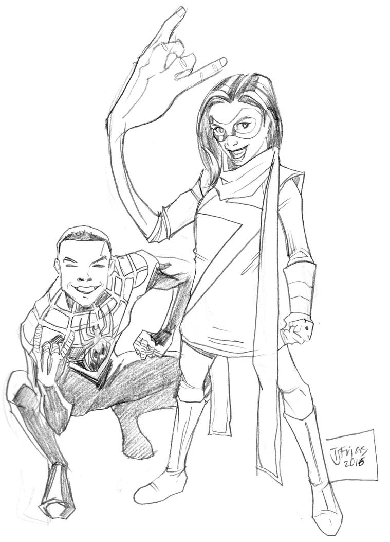 01072016 Msmarvel Spidey by guinnessyde