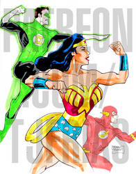 Silver Age Wonder Woman, Flash, and Green Lantern