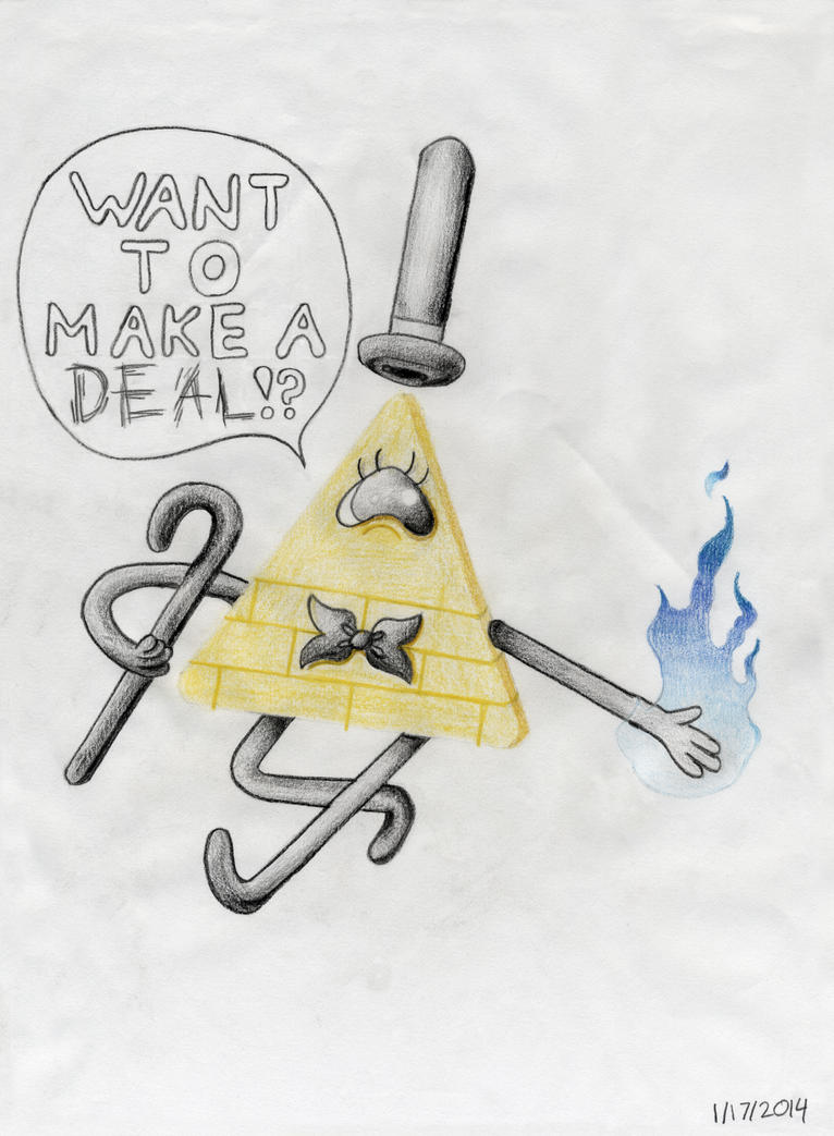 Gravity Falls Bill Cipher Want To Make A Deal by SN2