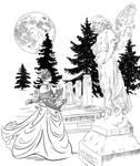 Cemetery woman