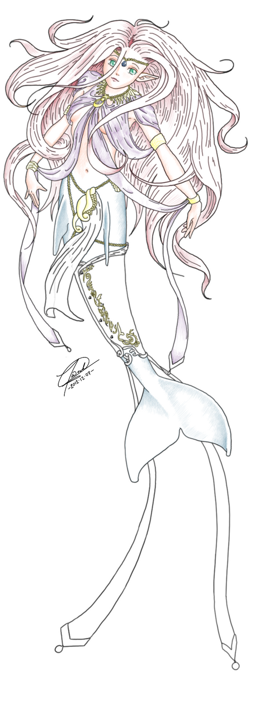 Fancy mermaid