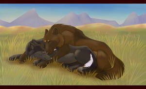 Alphas' Afternoon Nap by Wildfire-Tama