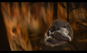 Burning House by Wildfire-Tama