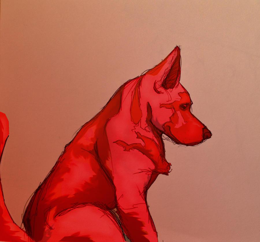 Fire Dog WIP by ChrisIwanski