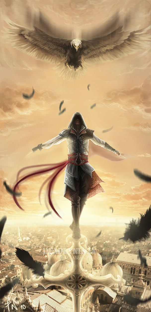 ..Ezio:Into the sky:... by DeadlyNinja