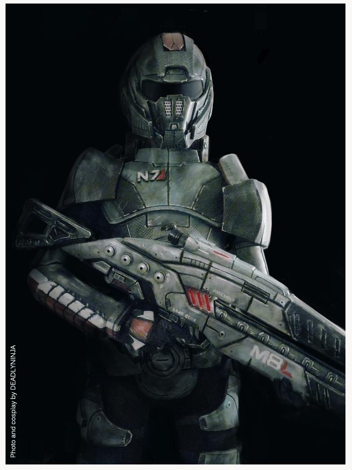 Commander Shepard cosplay by DeadlyNinja