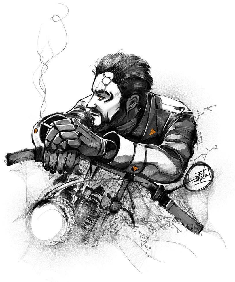 Deus ex :motorbike and chill by DeadlyNinja