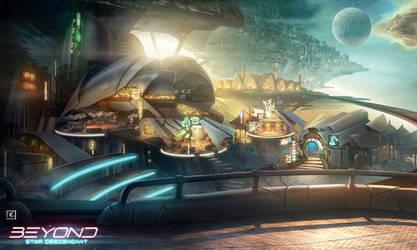 Beyond : Star Descendant  - Moonport by DeadlyNinja