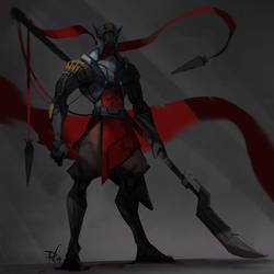 Naginata warrior by DeadlyNinja