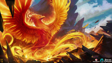 Pagan online : Splash art - Phoenix pet