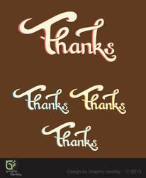 Thanks Hand Lettering Vector