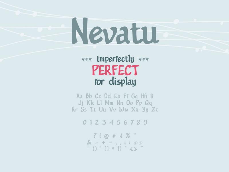 Nevatu Font by GraphicIdentity