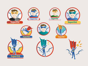 Superkid - 15 Vectors and Icons