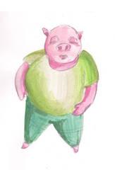 Mr. Smug-Face Pig