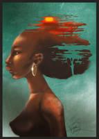 + Afrikka + by korone