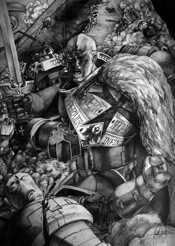 [W40K] Collection d'images : Space Marines Jeremiah_of_the_Black_Templars_by_tacticangel