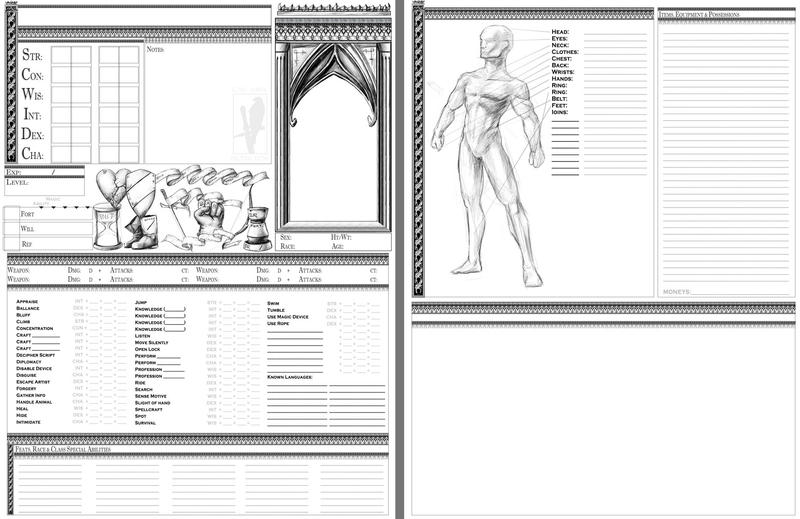 Custom Character Sheet Design : My custom character sheet by tacticangel on deviantart