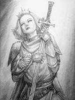 Lady Lorraine the White Knight by tacticangel