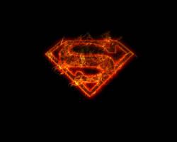 Superman Logo - Flames by B-El