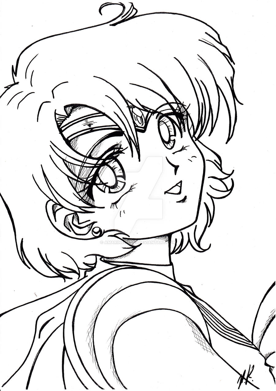 Sailor mercury by amarinecraft on deviantart for Mercury coloring page